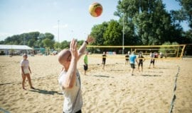 Beachvolleybal zeskamp Amsterdam